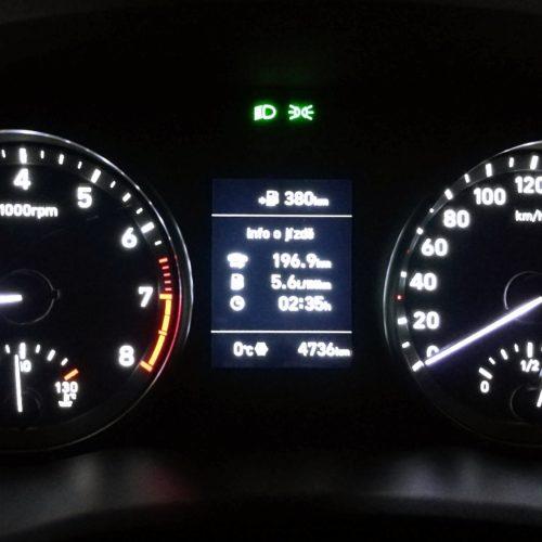 Hyundai Fastback pristrojovka start