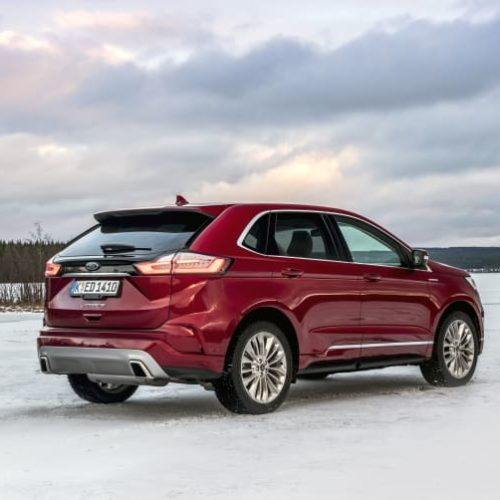 Ford Edge SUV red1