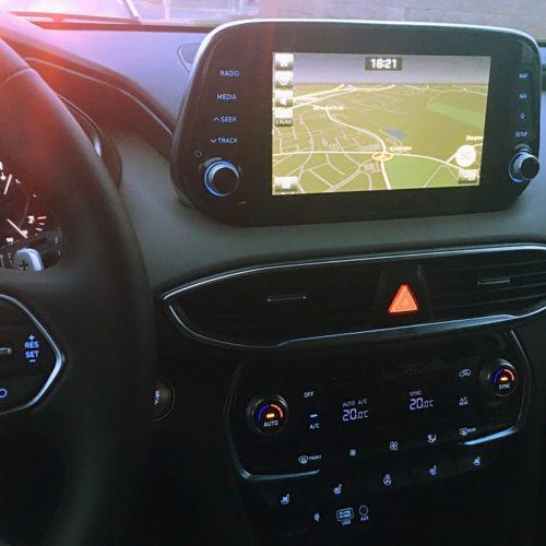 Hyundai Santa Fe detail navigace